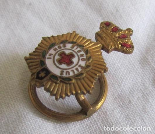 Militaria: Insignia pin de solapa de la Cruz Roja In hoc signo salus - Foto 4 - 94512150