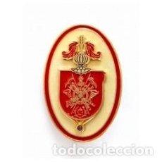Militaria: DISTINTIVO DE ALUMNO DE LA ACADEMIA GENERAL MILITAR COLOR ROJO. Lote 94906087