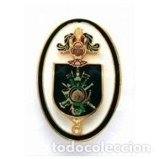 Militaria: DISTINTIVO DE ALUMNO DE LA ACADEMIA GENERAL MILITAR COLOR VERDE. Lote 94906187