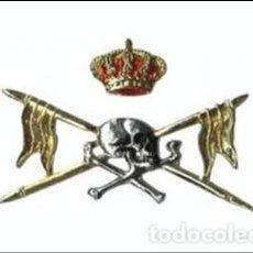 Militaria: EXCELENTE EMBLEMA DE BOINA DE LUSITANIA EN METAL-REGIMIENTO DE CABALLERIA-. Lote 109326044