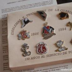 Militaria: COLECCION CONMEMORATIVA PINS,GUARDIA CIVIL, 150 ANIVERSARIO:EMBLEMAS,FUNDADOR,TRICORNIOS.. Lote 94995215