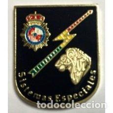 Militaria: DISTINTIVO METÁLICO DE PERMANENCIA EN UNIDADES ESPECIALES DE CNP. Lote 95199911