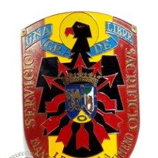 Militaria: DISTINTIVO ESCUDO LEGION 1ª A MANUEL RODRIGUEZ JIMENO 6,7 CM DE ALTO. Lote 97308611