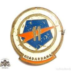 Militaria: EMBLEMA DE BRAZO DE LA 11 DIVISIÓN GUADARRAMA ( PENTÓMICA ), METÁLICO,GRANDE, .AÑOS 50-60. Lote 97403839
