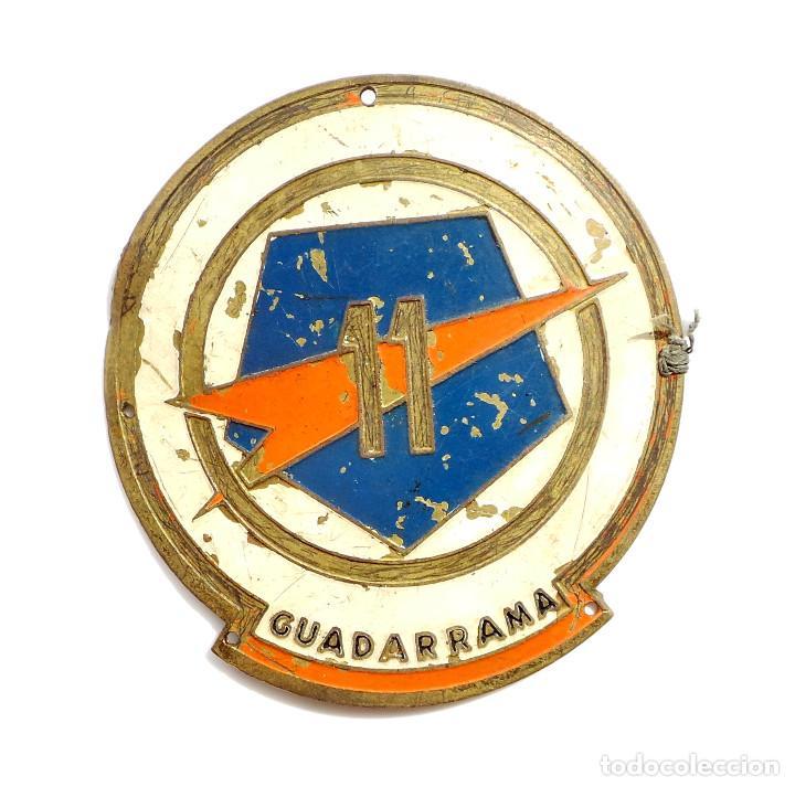 Militaria: EMBLEMA DE BRAZO DE LA 11 DIVISIÓN GUADARRAMA ( PENTÓMICA ), METÁLICO,GRANDE, .AÑOS 50-60 - Foto 2 - 97403839