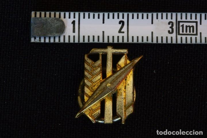 SINDICATO VERTICAL VIEJA INSIGNIA-PIN DE OJAL (Militar - Insignias Militares Españolas y Pins)