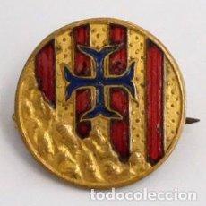 Militaria: BROCHE INSIGNIA ESMALTADA DE MONTSERRAT. REQUETE. CARLISTA. Lote 99518119