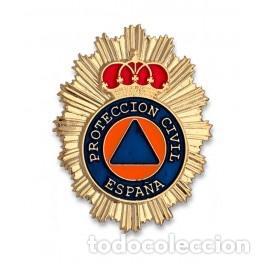 PLACA CARTERA DE PROTECCIÓN CIVIL (Militar - Insignias Militares Españolas y Pins)