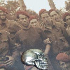 Militaria: REPUBLICA GUERRA CIVIL POSGUERRA CALAVERA DEL REGIMIENTO DE CABALLERIA LUSITANIA. Lote 100935014