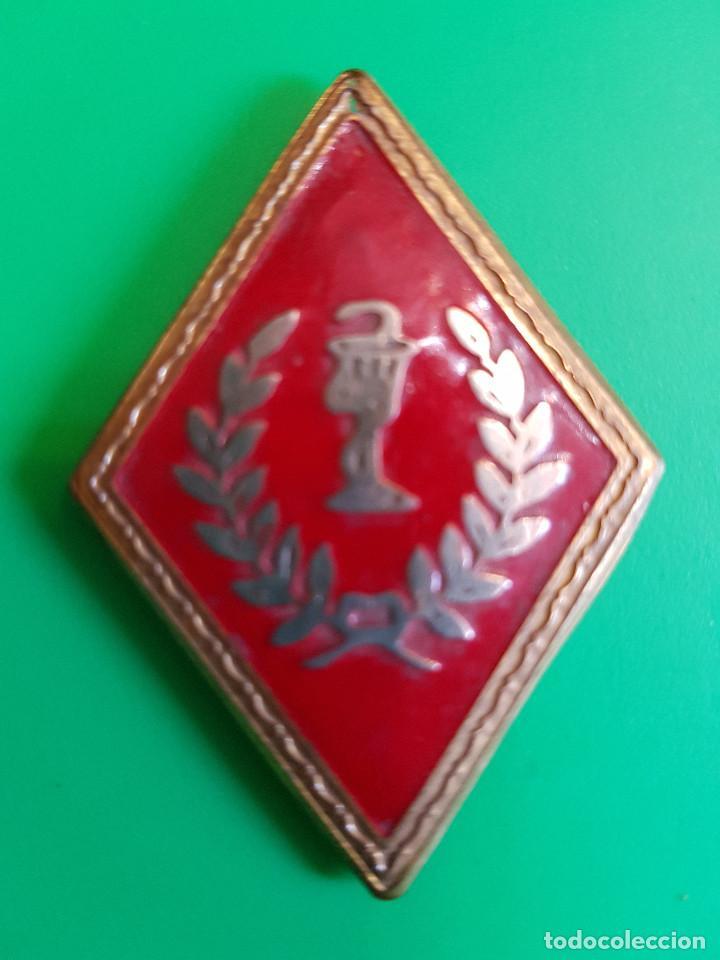 ROMBO ANTIGUO DE FARMACIA (Militar - Insignias Militares Españolas y Pins)