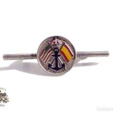 Militaria: INSIGNIA ALFILER DE CORBATA EN PLATA DE LEY. AMERICA Y ESPAÑA - MARINA. Lote 103412163
