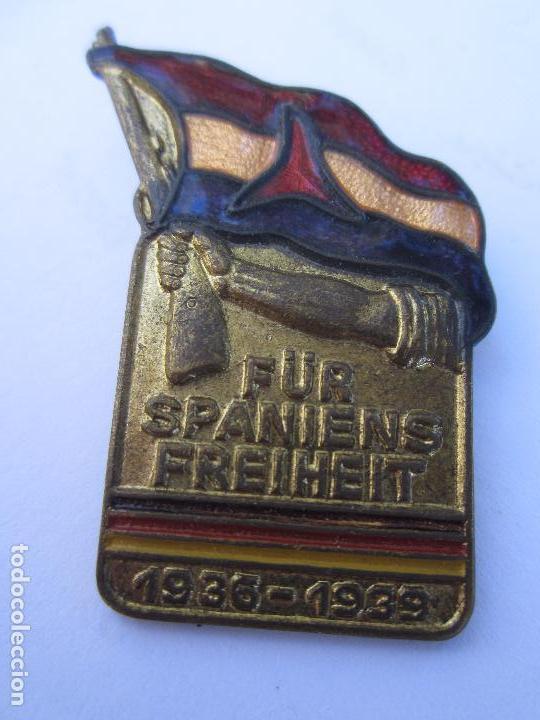 INSIGNIA CONMEMORATIVA , BRIGADAS INTERNACIONALES ALEMANAS , REPUBLICA ESPAÑOLA 1936 - 1939 (Militar - Insignias Militares Españolas y Pins)