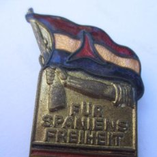 Militaria: INSIGNIA CONMEMORATIVA , BRIGADAS INTERNACIONALES ALEMANAS , REPUBLICA ESPAÑOLA 1936 - 1939 . Lote 104129355