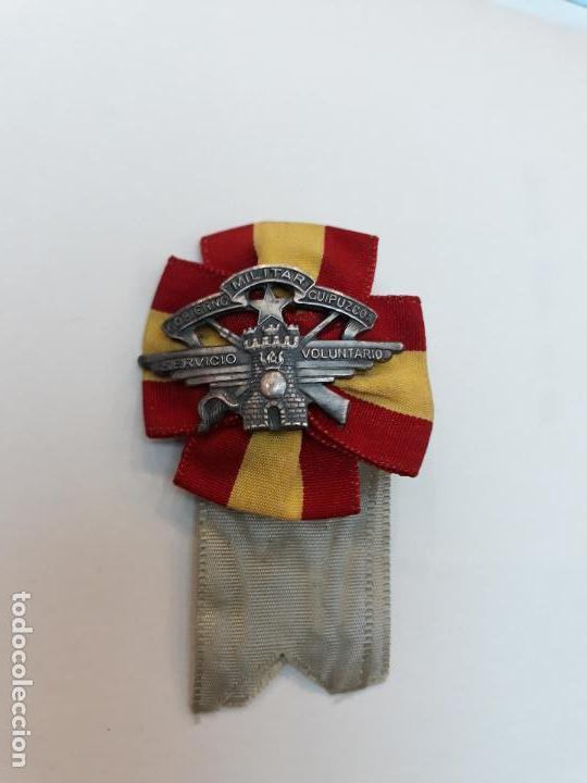 Militaria: Emblema gobierno militar de Guipúzcoa servicio voluntario guerra civil - Foto 3 - 107983899
