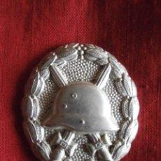 Militaria: MEDALLA ALEMANA DISTINTIVO DE HERIDO EN CATEGORÍA PLATA I II SEGUNDA GUERRA MUNDIAL III REICH ALEMÁN. Lote 108409007