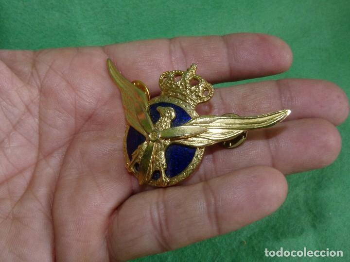 Militaria: INSIGNIA AVIACION CIVIL EMBLEMA ROKISKI PLACA PILOTO AÑOS 80 90 ESMALTADO COLECCION AEROLINEAS - Foto 3 - 109527507