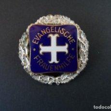 Militaria: PLACA DE PECHO EVANGELISCHE FRAUENHILFE 25 AÑOS DE SERVICIO. EMFERMERA EVANGELISTA. III REICH. Lote 244748370