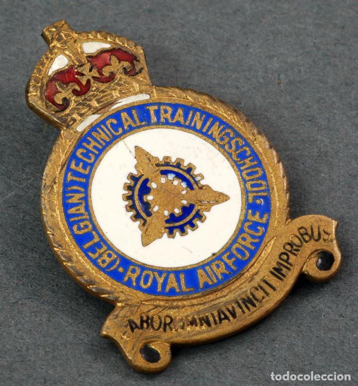 Insignia pin RAF Royal Air Force Bélgian Technical Training School