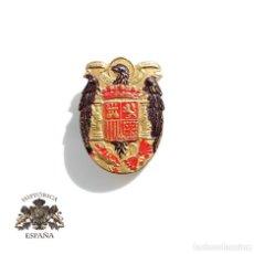 Militaria: INSIGNIA PATRIÓTICA ESPAÑA CON ÁGUILA DE SAN JUAN - 2,8 CM DE ALTO. Lote 110889259