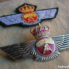 Militaria: ROKISKI DE TRANSMISIONES. METALICO Y EN TELA CON VELCRO. EJERCITO DEL AIRE.. Lote 111191847