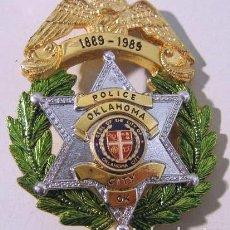 Militaria: POLICIA DE OKLAHOMA CITY OK SEAL OF THE CITY OF OKLAHOMA CITY. Lote 112097275