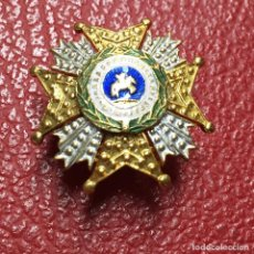 Militaria: MEDALLA MINIATURA DE SOLAPA O INSIGNIA TIPO PIN DE OJAL DE ORDEN DE SAN HERMENEGILDO. Lote 112562787