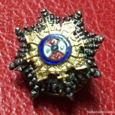 Militaria: MEDALLA MINIATURA DE SOLAPA O INSIGNIA TIPO PIN DE OJAL DE ORDEN AL MERITO EN CAMPAÑA. Lote 112563343