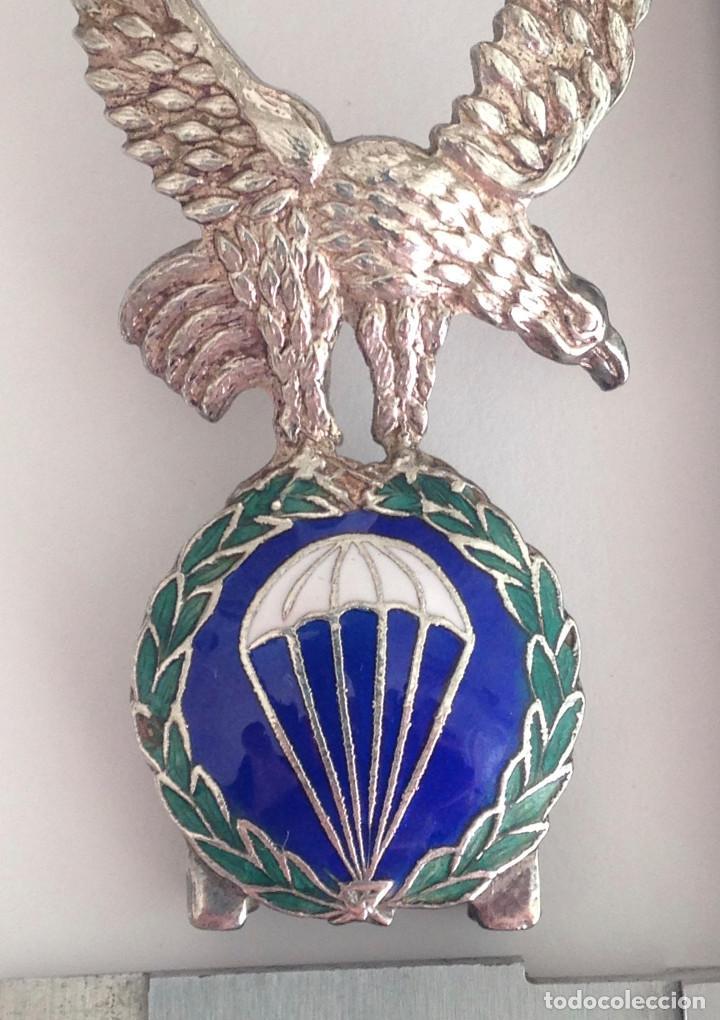 Militaria: BRIPAC. BRIGADA PARACAIDISTA. PERMANENCIA. pieza de joyeria en plata y esmaltes. - Foto 3 - 113383495