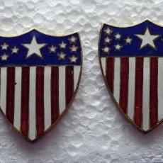 Militaria: 2 INSIGNIAS US ARMY. EJÉRCITO DE ESTADOS UNIDOS DIVISA. ADJUTANT GENERAL. GALA. Lote 113962599