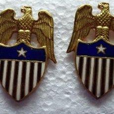 Militaria: 2 INSIGNIAS US ARMY. EJÉRCITO DE ESTADOS UNIDOS DIVISA. AIDE TO BRIGADIER GENERAL. OFICIAL CAMPO. Lote 113962887