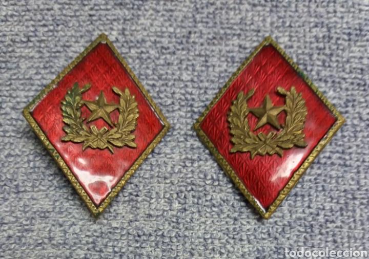 PAREJA ROMBOS ESTADO MAYOR (Militar - Insignias Militares Españolas y Pins)