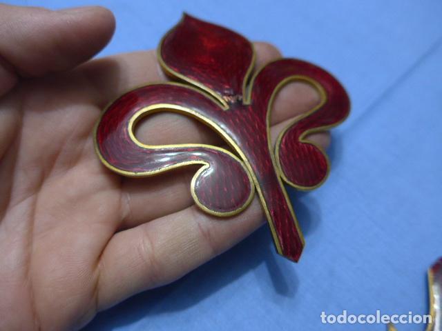 Militaria: * Antiguo gran emblema de caballeria español de santiago, raro y esmaltado. Para casco. Original. ZX - Foto 3 - 115228183