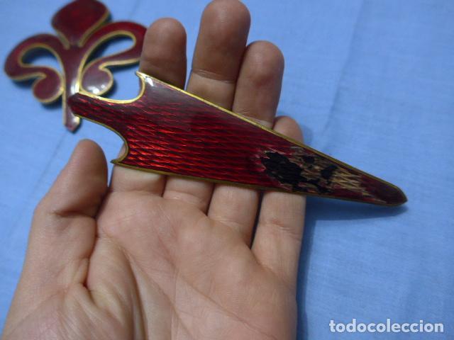 Militaria: * Antiguo gran emblema de caballeria español de santiago, raro y esmaltado. Para casco. Original. ZX - Foto 4 - 115228183