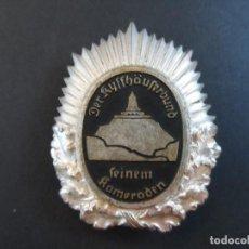 Militaria: PLACA DE PECHO KYFFHÄUSERBUND DISTINGUIDO CAMARADA EN PLATA. VETERANO I GUERRA MUNDIAL. Lote 115276627