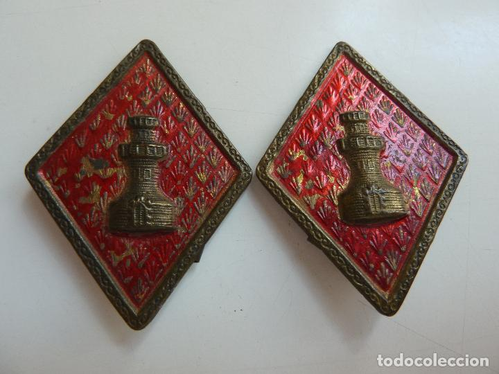 2 ROMBOS. TORRE. INGENIEROS (Militar - Insignias Militares Españolas y Pins)