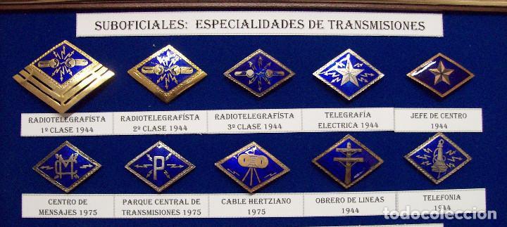 ROMBOS ESPECIALIDADES INGENIEROS TRANSMISIONES (Militar - Insignias Militares Españolas y Pins)