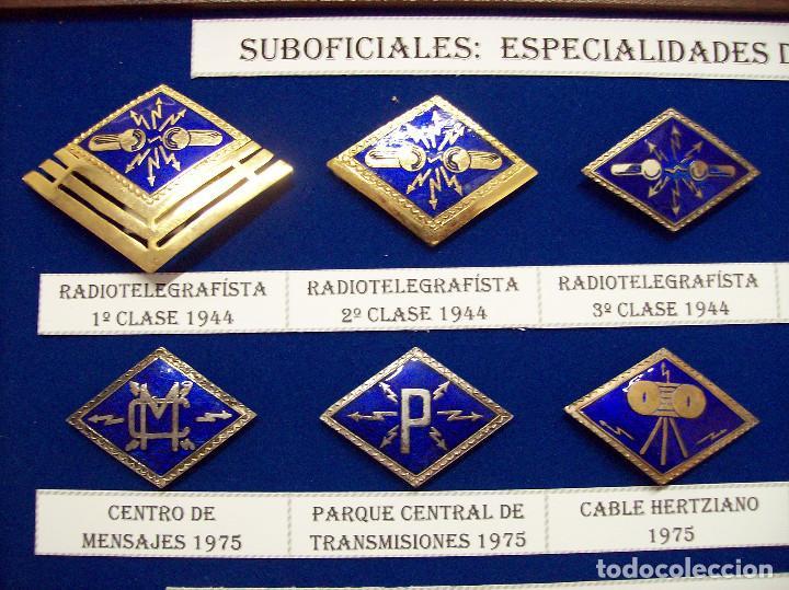 Militaria: ROMBOS ESPECIALIDADES INGENIEROS TRANSMISIONES - Foto 2 - 115904771