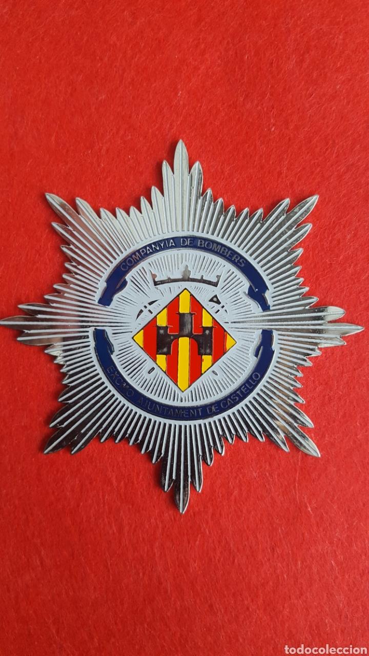 PLACA METALICA DE BOMBEROS (Militar - Insignias Militares Españolas y Pins)