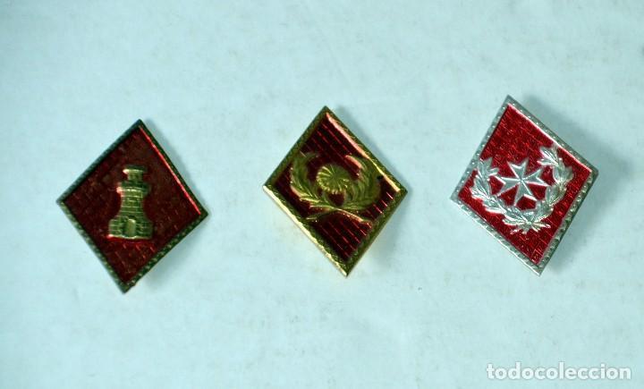 LOTE DE 3 ROMBOS MILITARES (Militar - Insignias Militares Españolas y Pins)