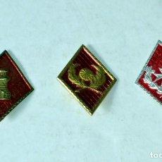 Militaria: LOTE DE 3 ROMBOS MILITARES. Lote 116357427