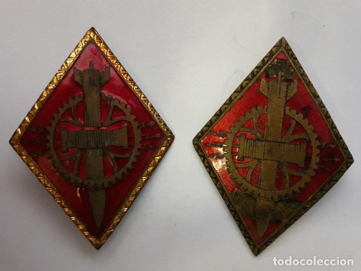 2 ROMBO DE 1ª SECCIÓN ESPECIALISTA DEL EJERCITO ESPAÑOL (Militar - Insignias Militares Españolas y Pins)