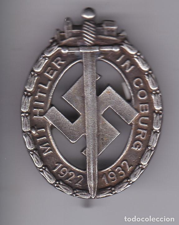 Emblema militar nazi mit hitler in coburg 1922- - Sold at Auction