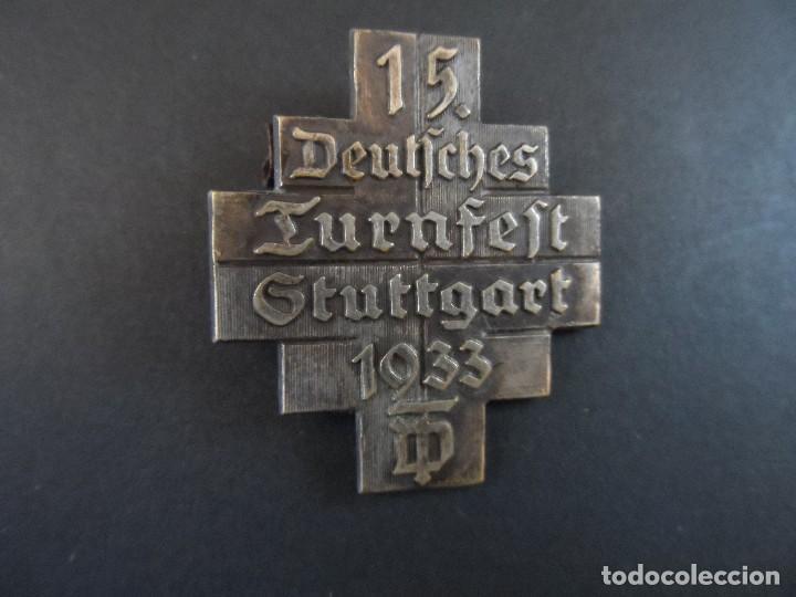INSIGNIA DE SOLAPA 15 FESTIVAL GIMNASTICO STUTTGART. III REICH. AÑO 1933 (Militar - Insignias Militares Extranjeras y Pins)