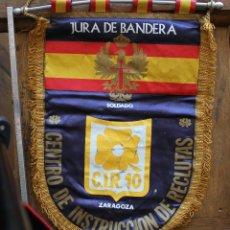 Militaria: BANDERIN JURA BANDERA CIR 10 ZARAGOZA CENTRO DE INSTRUCCION DE RECLUTAS AÑOS 80. Lote 205085060