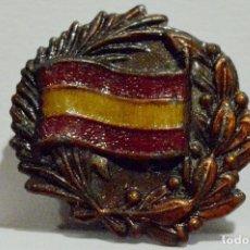 Militaria: INSIGNIA DE SOLAPA EMBLEMA PATRIOTICO NACIONAL SOMATEN BANDERA DE ESPAÑA LAUREADA. Lote 48615590