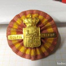 Militaria - insignia somatén 5ª region militar: Aragón con escarapela muy rara orginal guerra civil - 117284279