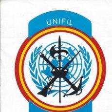 Militaria: PEGATINA UNIFIL-LÍBANO FUERZAS ESPAÑOLAS DESPLEGADAS EN EL LIBANO. Lote 117324435