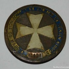 Militaria: PLACA DEL COLEGIO OFICIAL DE MEDICOS DE LA PROVINCIA DE MADRID, CON NUMERO TROQUELADO, MIDE 6 CMS. D. Lote 118891543