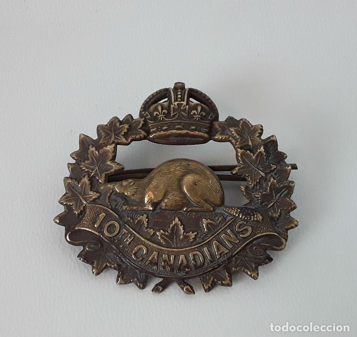 PIN INSIGNIA. INFANTERÍA DE BATALLA 10TH CANADIANS. 1914-1920. (Militar - Insignias Militares Internacionales y Pins)