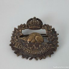 Militaria: PIN INSIGNIA. INFANTERÍA DE BATALLA 10TH CANADIANS. 1914-1920.. Lote 118980879